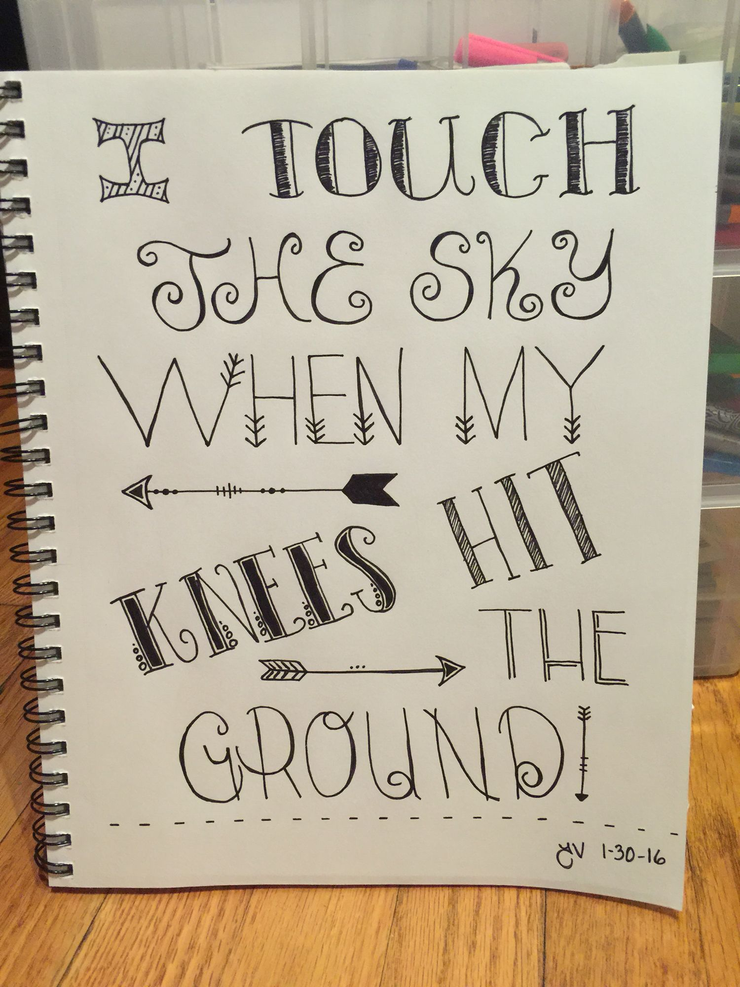 I Touch The Sky When My Knees Hit The Ground Quote Lyrics Hillsong