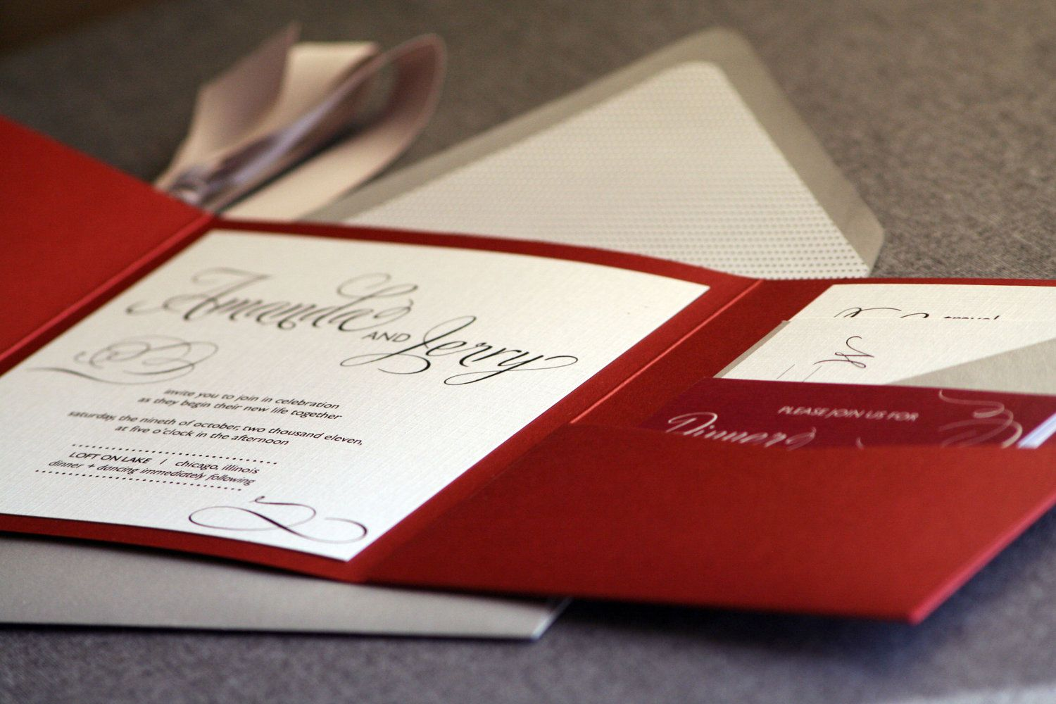 Marsala Wedding Invitations, Red and Black Wedding Invitation with ...