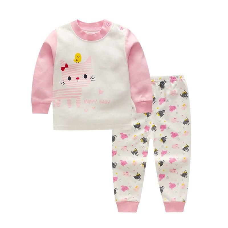 2947d6f7229b5 Winter Newborn baby clothes set cotton Baby girls Clothes 2PCS Cartoon baby  Boy Clothes Unisex kids Clothing Sets bebes