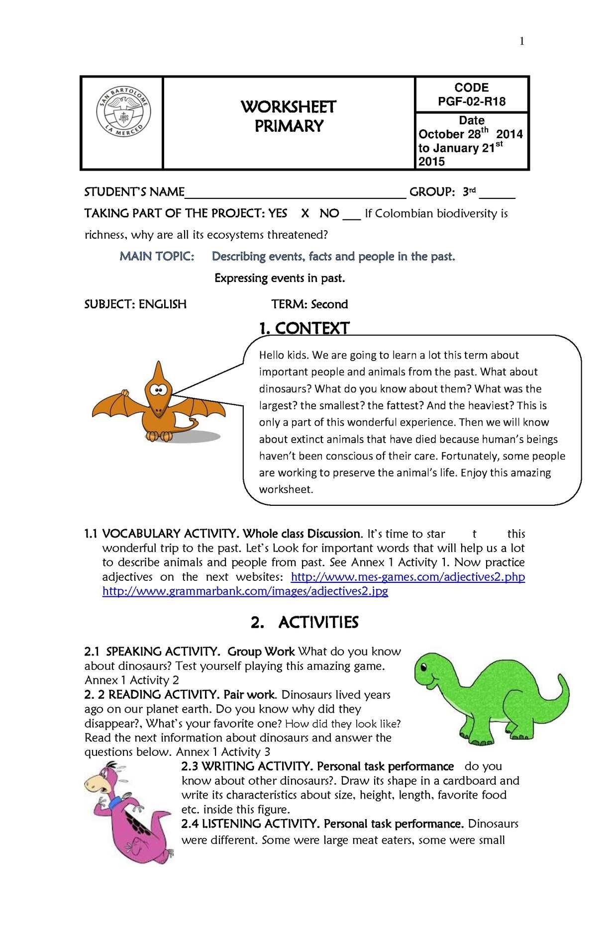 hight resolution of 3rd Grade Ecosystem Worksheets   Writing expressions