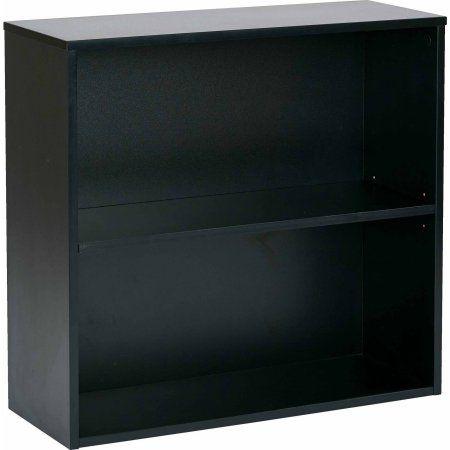 Office Star Ospd Prado 30 inch 2-Shelf Bookcase, Black