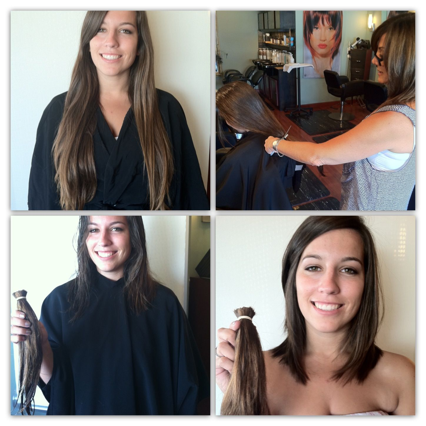 Locks Of LOVE BEFORE AFTER Pinterest Haircuts Hair Style