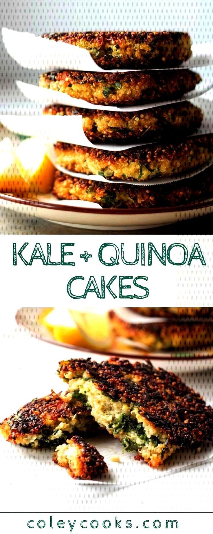 Quinoa Cakes (Video!) | Coley Cooks... KALE + QUINOA CAKES | This easy vegetarian recipe is high in
