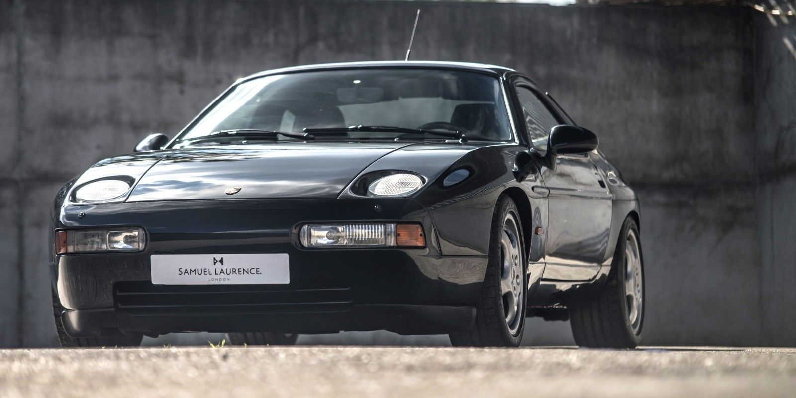 1994 Porsche 928 GTS for sale at Samuel Laurence. Triple black car, the last of the line and the most desirable GTS model.