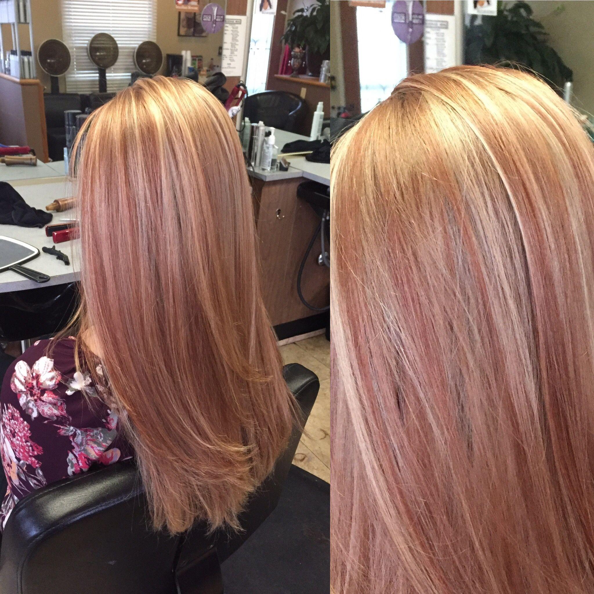 full foil. rose gold appearance