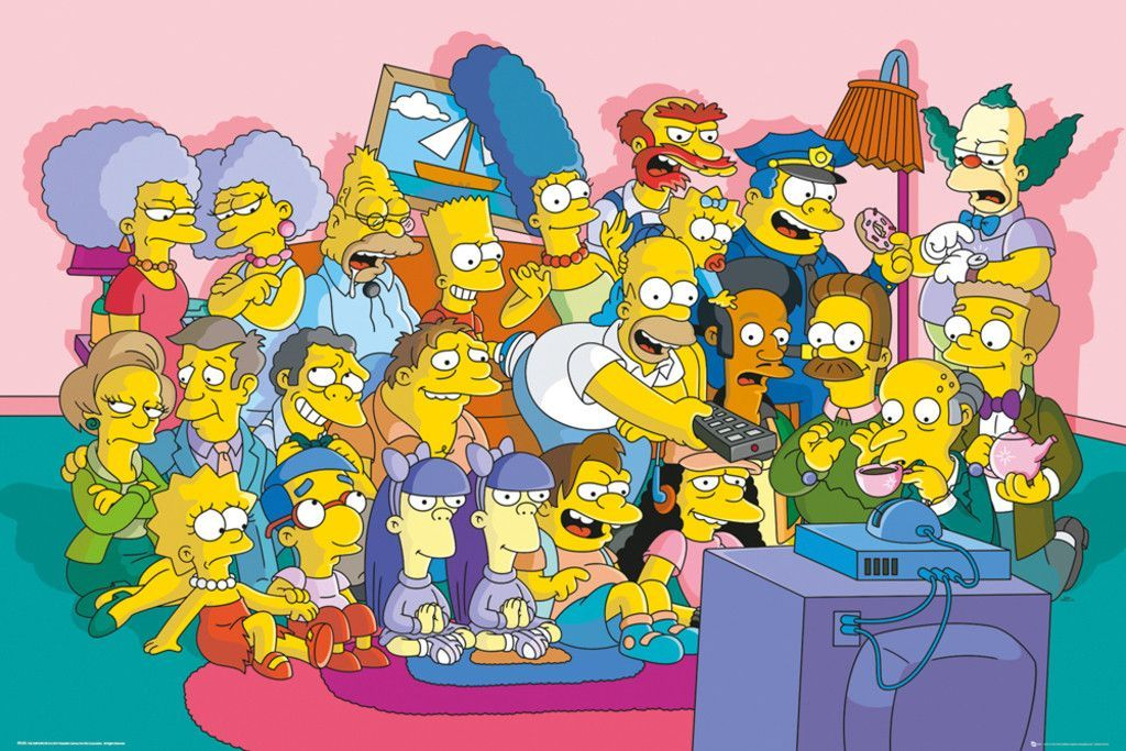 Simpsons Sofa Cast Official Poster The Simpsons Movie Simpsons Art Simpson Tv
