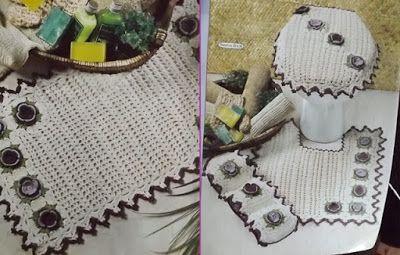 Amor por Art em Crochê: Jogo de Banheiro em crochê com Gráfico