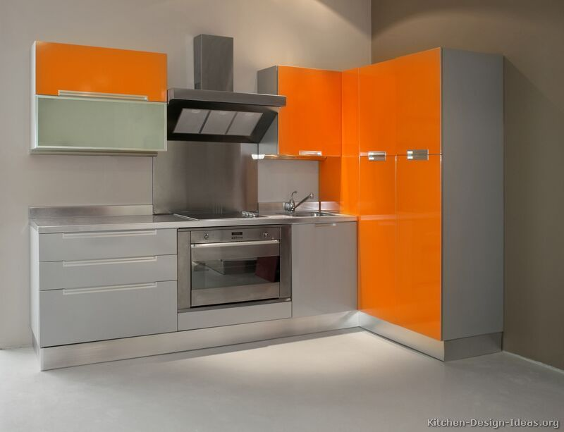 modern orange kitchen cabinets i really like this kitchen