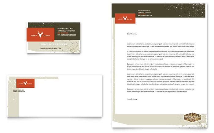 Hunting guide business card and letterhead design template by hunting guide business card and letterhead design template by stocklayouts cheaphphosting Images