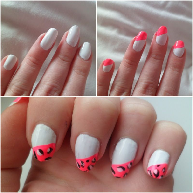 Animal Print Super Cute Steps In White And Pink