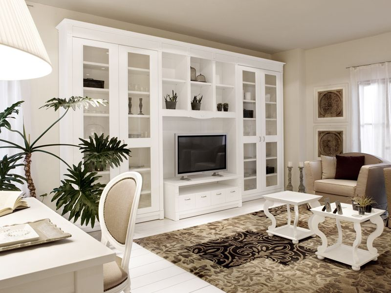 Minacciolo Camerette ~ Sectional wooden tv wall system english mood tv wall system