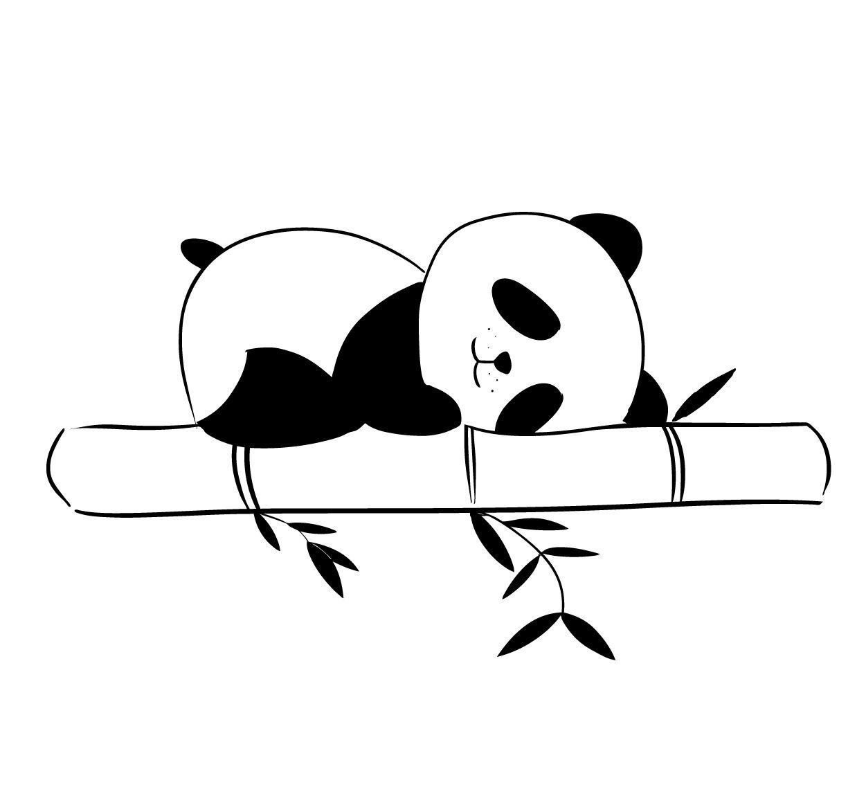 Osito panda dormilón | Osos, Imagenes para tatuajes y Pandas