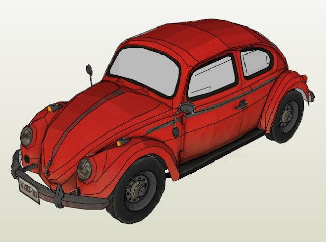 Created by Argentinian designer L Paper , this is one of the best paper model versions of the classic Volkswagen Type 1 I have ever seen. ...