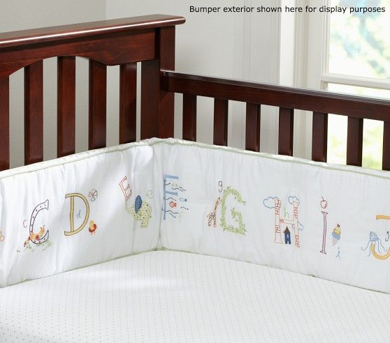 Abc Nursery Bumper Pottery Barn Kids Bed Baby Furniture Bed
