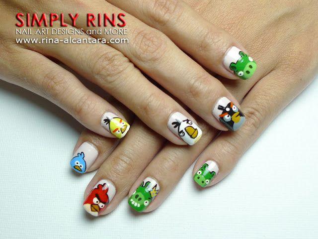 Geek Nail Art: Angry Birds Tutorial | Nails | Pinterest | Angry ...