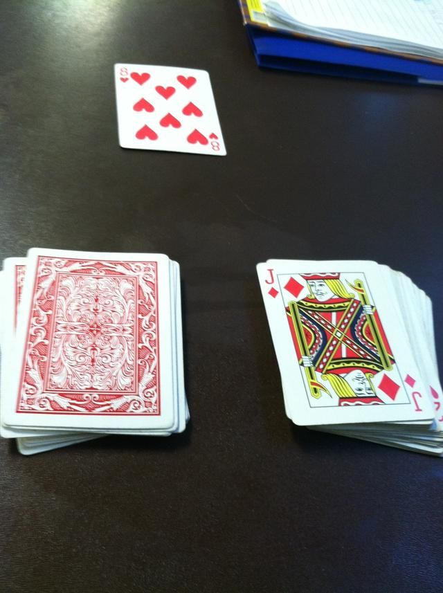 how to do the soldiers deck of cards trick