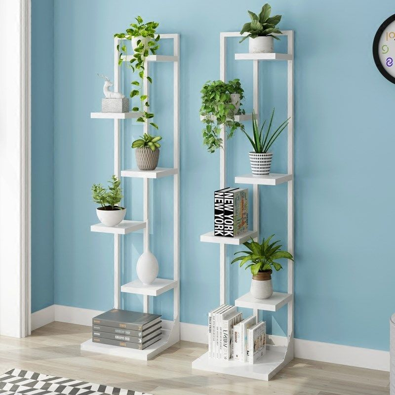 Standing flower shelf .Living room & balcony Plant shelf . flower pot stands with wood plant #flowerpot