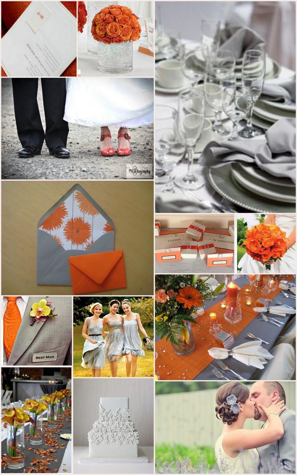 Orange Colour Scheme Orange Wedding Orange Grey Wedding Fall