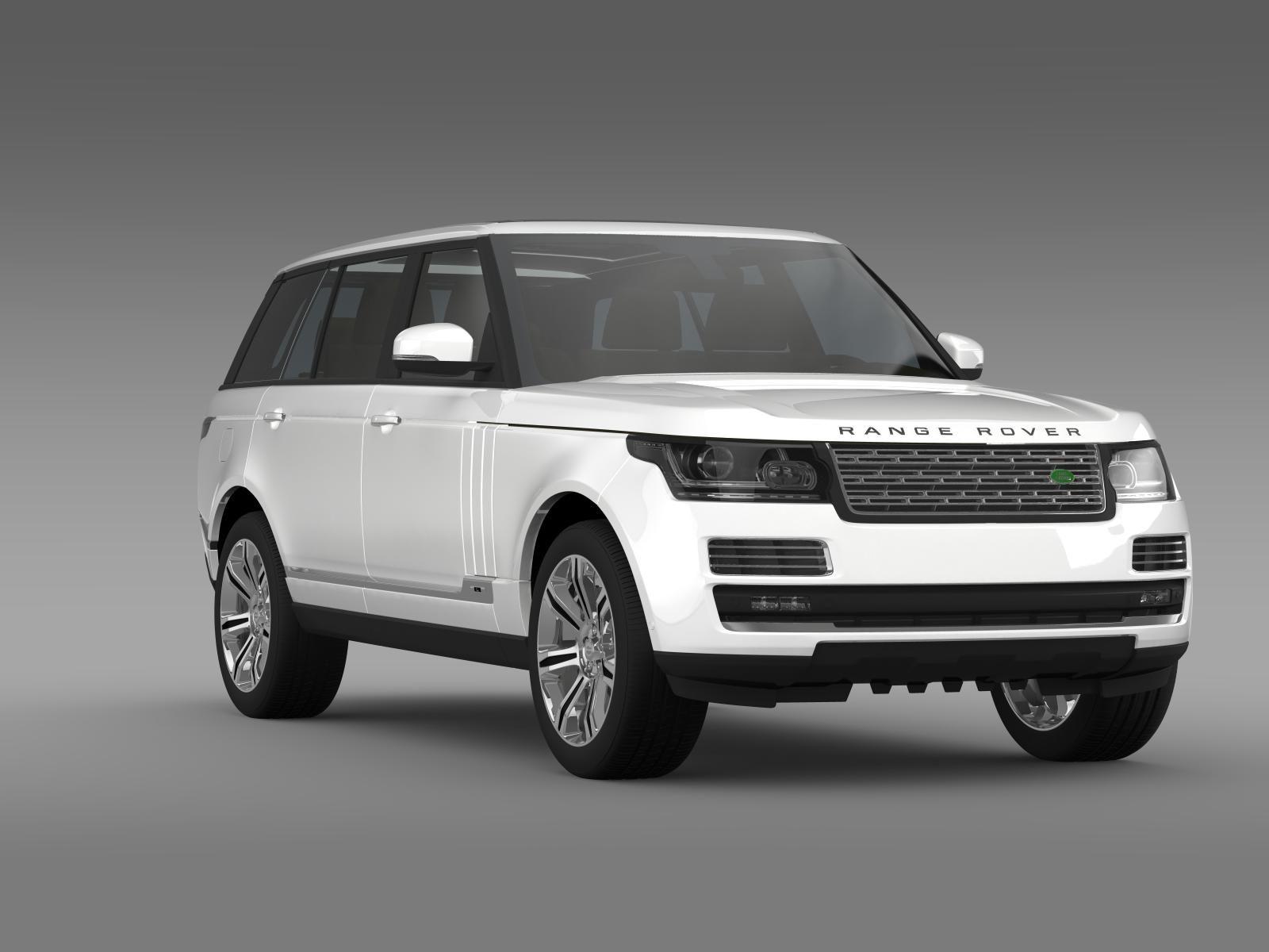 Range Rover Autobiography Black Lwb L405 3d Model Flatpyramid Range Rover Supercharged Range Rover Nissan Gt