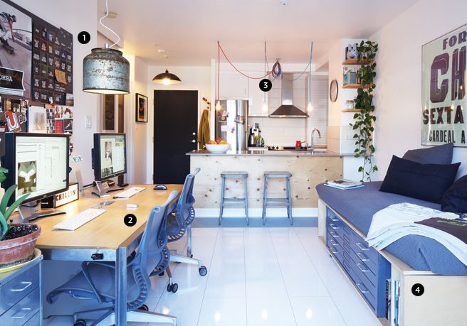 50 Most Beautiful Nordic Style Workspaces *Nice Compact Studio Layout