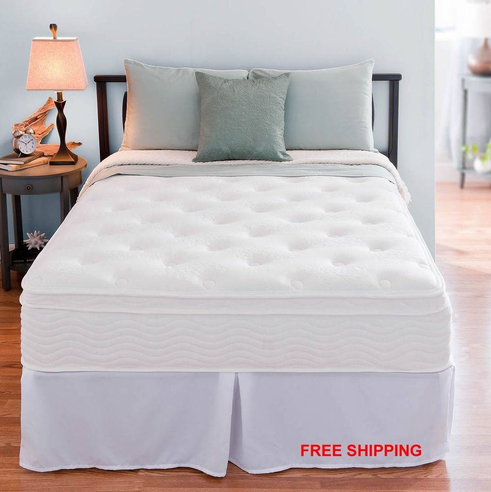 Night Therapy Euro Box Top Spring Mattress w/ Steel King Size Bed ...
