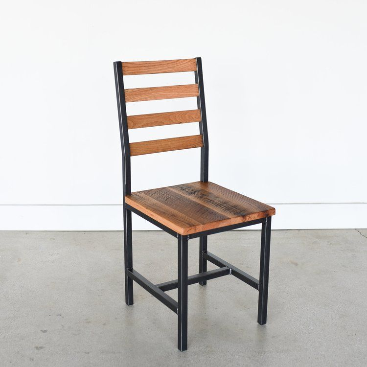 Industrial Reclaimed Wood Dining Chair Oak Clear What We Make Oak Dining Chairs Wood Dining Chairs Dining Chairs Diy