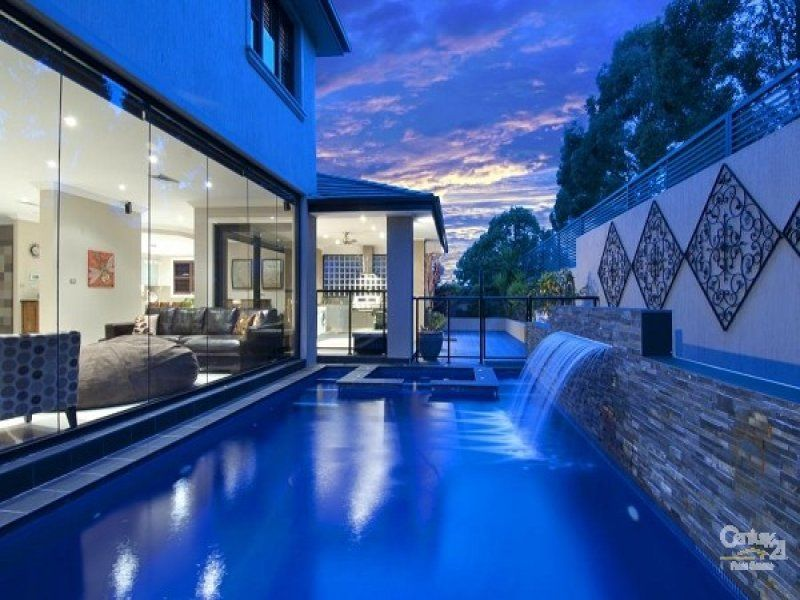 Modern Pool Design like the pebble tech color contemporary pool austin by root design companycom outdoor spaces pinterest pool houses house plans and modern Windows Modern Pool Design Using Bluestone With Pool Fence Waterfall Pool Photo 295139