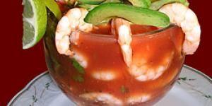 Receta de c ctel de camarones en salsa receta mariscos pinterest c ctel de camaron - Coctel de marisco ingredientes ...