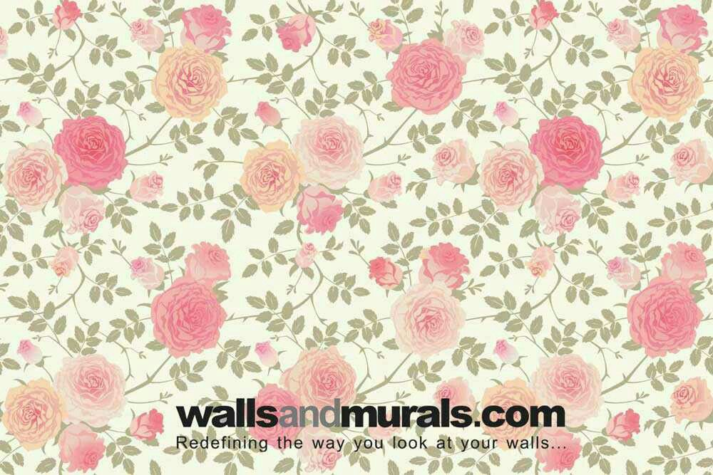 Vintage Style Rose Wallpaper Pattern