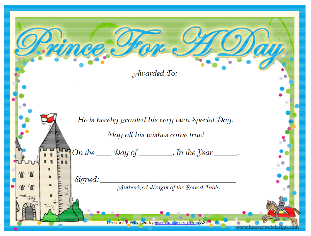 printable kid certificates