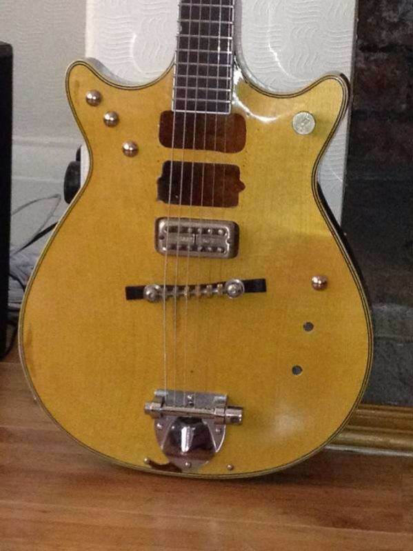 1963 Gretsch Jet Firebird, originally given to Malcolm by Harry Vanda of the Easybeats.