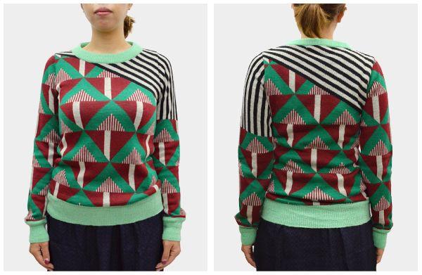 JEUNE EN LIGNE | Rakuten Global Market: Roos Vandekerckhove Ruth vandecarghorven crazy pattern pullover (red/pistachio)