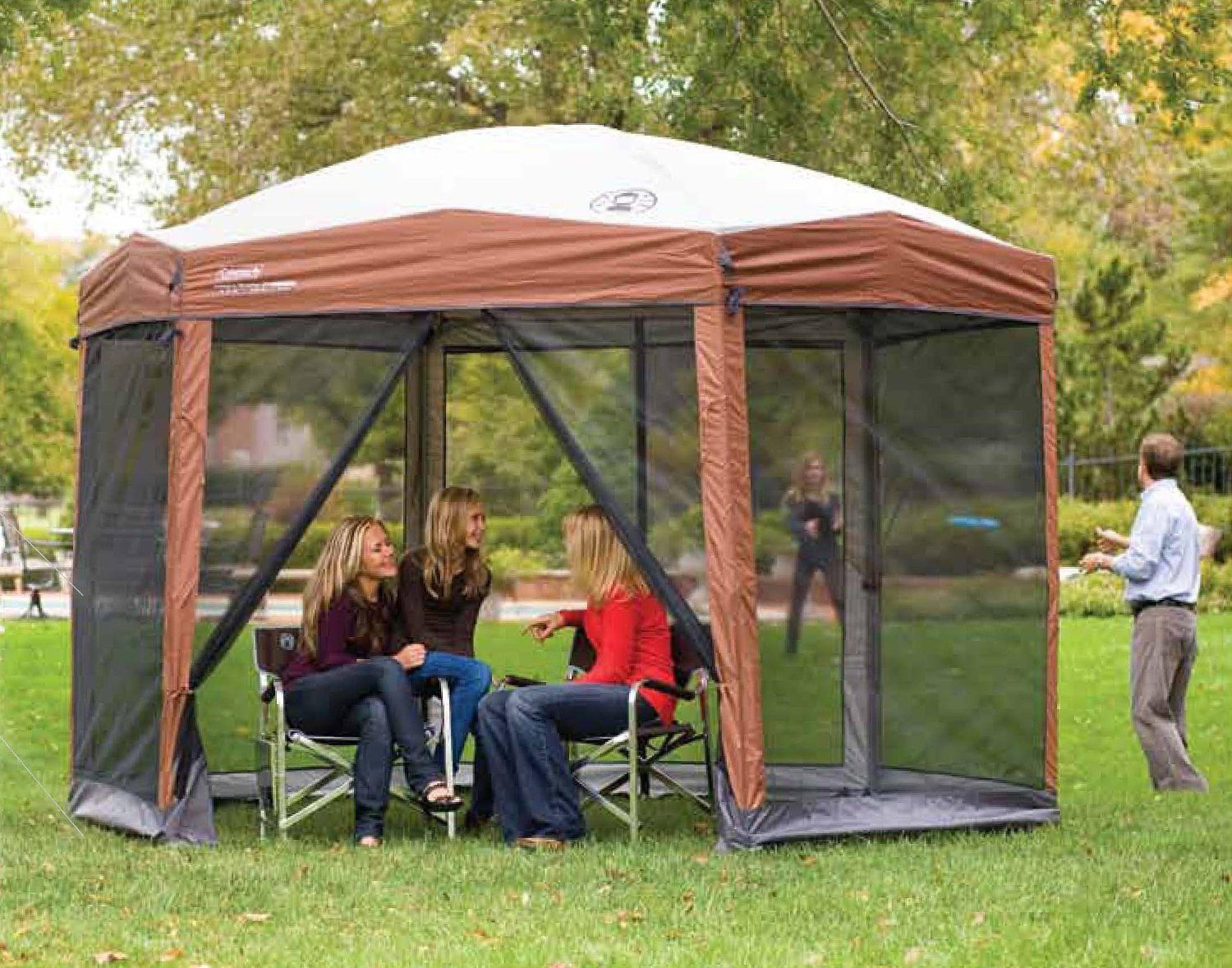 Coleman 12 x 10 Instant Screened Canopy Sports u0026 Outdoors : outside canopy tent - memphite.com