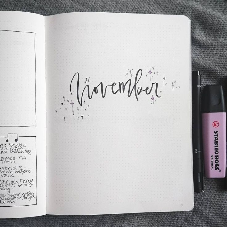 Bullet journal monthly cover page, November cover page, monochromatic bullet jou...,  #Bullet... #novemberbulletjournalcover