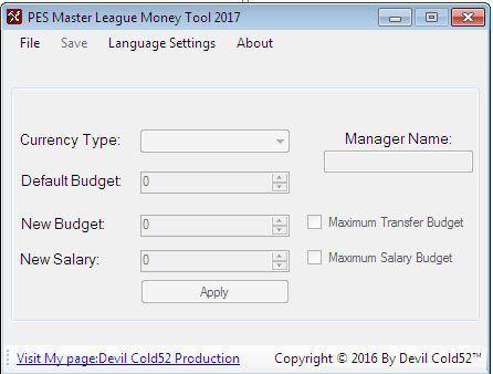 PES 2016 ML Money Editor