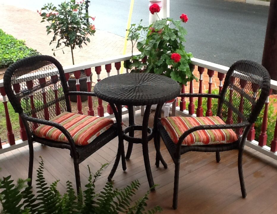 front porch ratan dinette is perfect for my front porch found