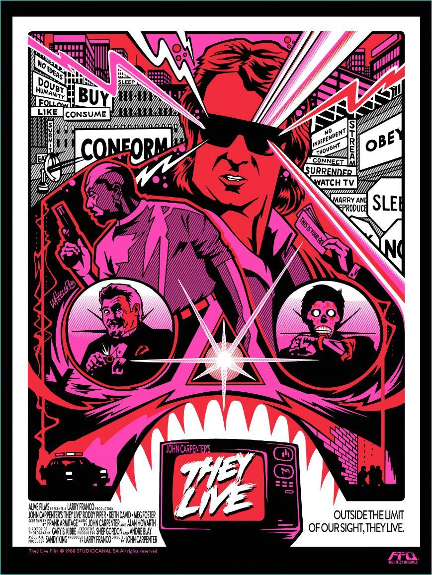Poster design john foster - Latest Frightfest Originals Poster John Carpenter Collection They Live