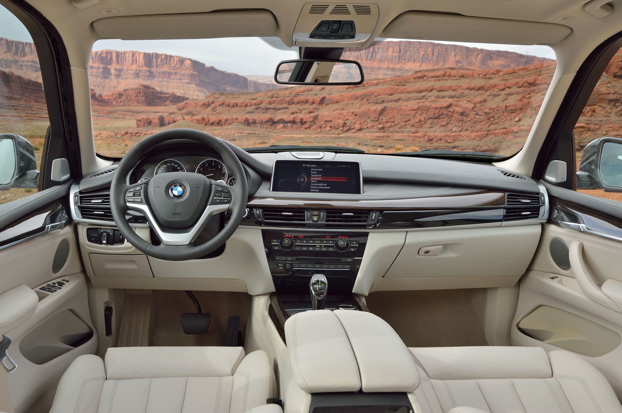 BMW X Interior Cream Leather Mode Of Transortation Pinterest - 2014 bmw x5 redesign