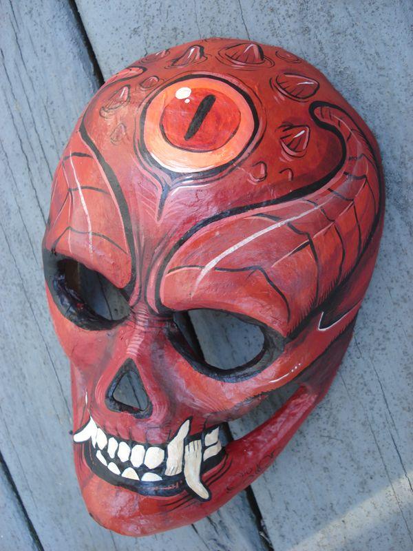 Paper Mache Masks Devil Mask By Missmonster On Deviantart