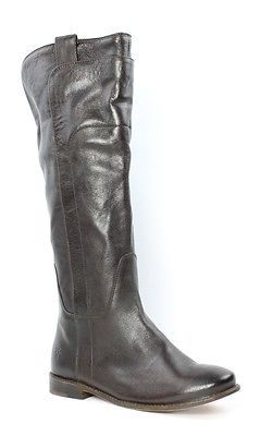 Frye Paige Tall Dark Brown Boot Womens size 7 M New $418