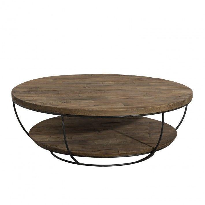 Tinesixe Table ronde plateau noire en double basse 100cm 4SALc5R3jq