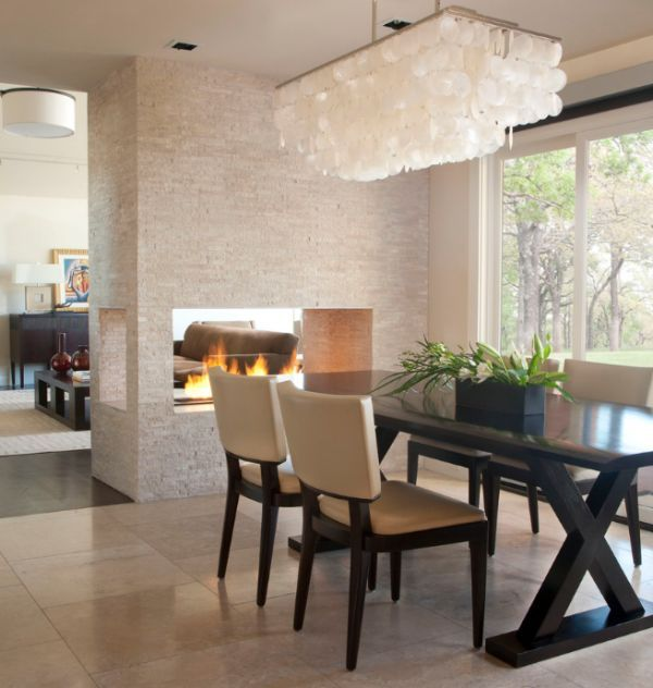 Dining Room Fireplace Ideas For Romantic Winter Nights