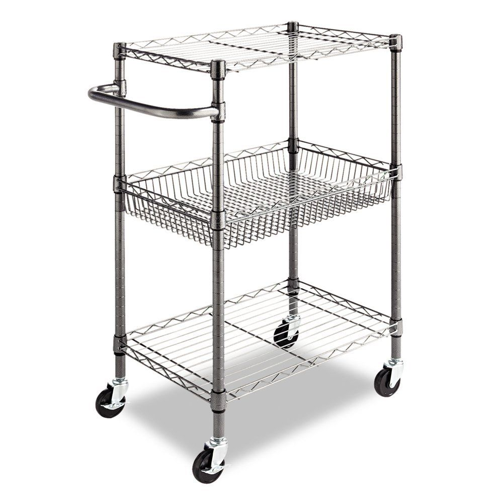 metal kitchen carts nook lighting ideas 3 tier cart utility adjust shelves casters in with adjustable and quality house