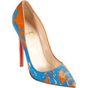 ea68b659217 Handpainted Orange Velvet Louboutin's...wearable art | Style | Shoes ...