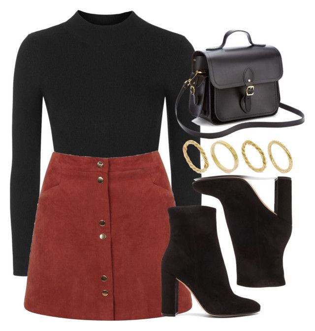 Style #11462 by vany-alvarado ❤ liked on Polyvore featuring Topshop, Miss Selfridge, Gianvito Rossi, The Cambridge Satchel Company and Made #collegeoutfits