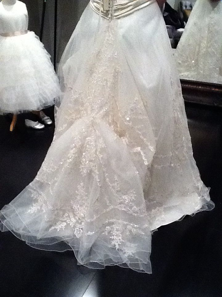 Double Over Bustle With Lace Wedding Dress Bustle Wedding Gown