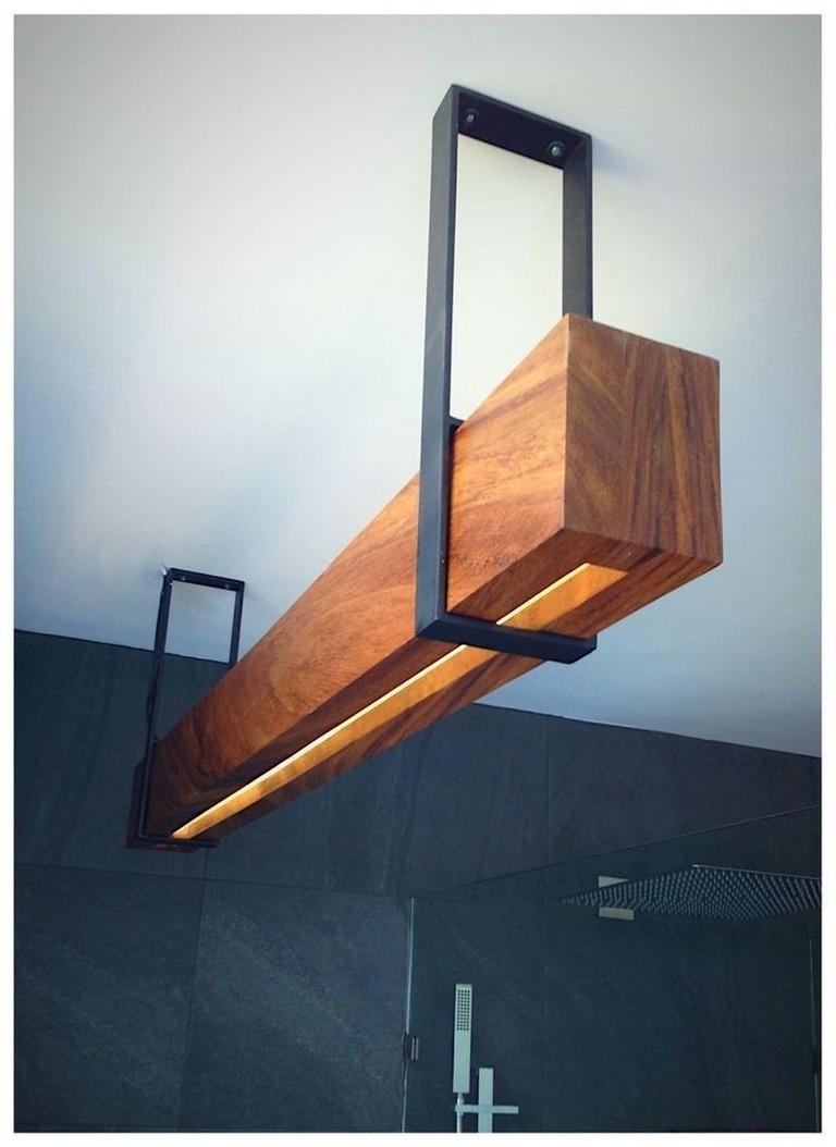 40 Stunning Lighting Decor Ideas For Dining Room Lighting Lightingdecor Diningroomideas Metal Lighting Lamp Design Wooden Lamps Design