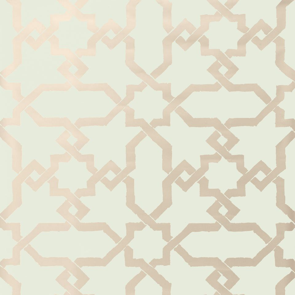 Cordoba Mist Wallpaper Laylagrayce Drawing From A Moorish Tile Motif The Handcrafted Cordoba Wallpape Schumacher Wallpaper Wall Coverings Harlequin Wallpaper