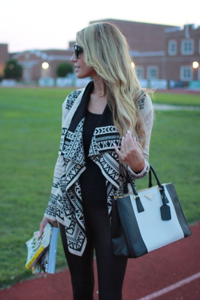 Aztec Cardigans!!!  The whole outfit is great
