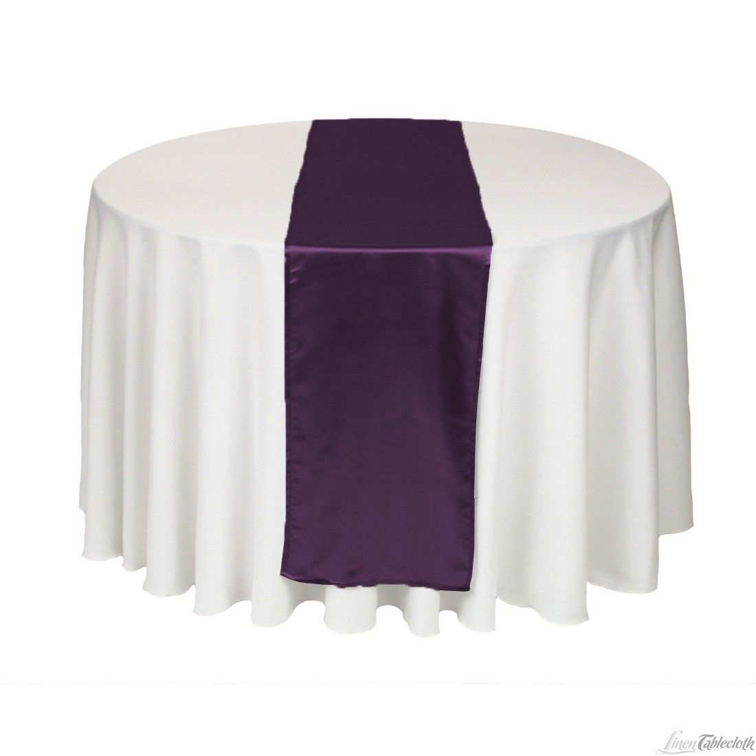14 X 108 Eggplant Satin Table Runner Wedding Linentablecloth Add